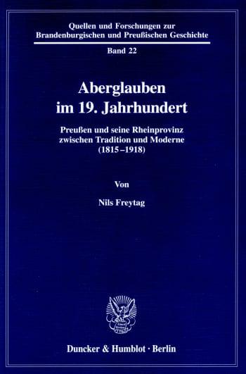 Cover: Aberglauben im 19. Jahrhundert