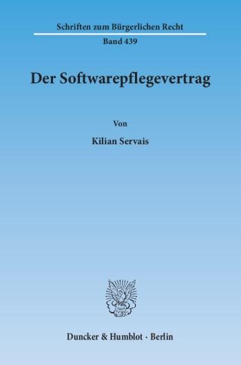Cover: Der Softwarepflegevertrag
