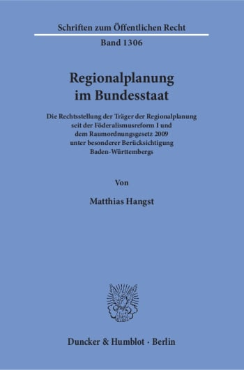 Cover: Regionalplanung im Bundesstaat