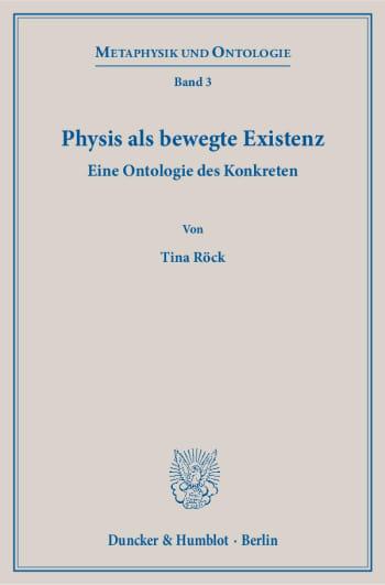 Cover: Physis als bewegte Existenz