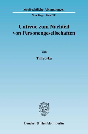 Cover: Untreue zum Nachteil von Personengesellschaften