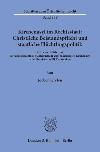 Cover: Kirchenasyl im Rechtsstaat: Christliche Beistandspflicht und staatliche Flüchtlingspolitik