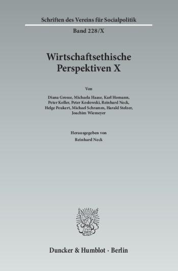 Cover: Wirtschaftsethische Perspektiven X