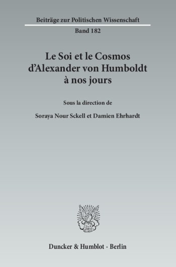 Cover: Le Soi et le Cosmos d'Alexander von Humboldt à nos jours
