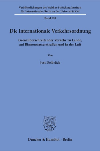 Cover: Die internationale Verkehrsordnung