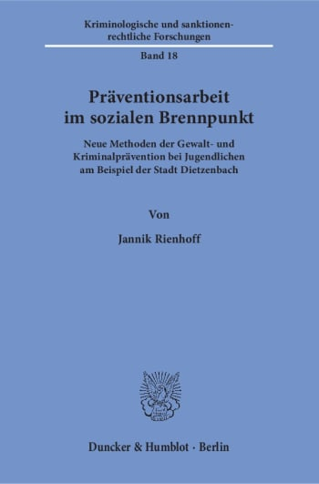 Cover: Präventionsarbeit im sozialen Brennpunkt