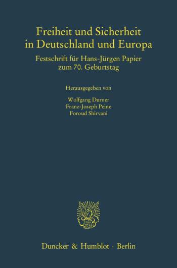 Cover: Freiheit und Sicherheit in Deutschland und Europa