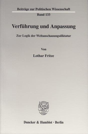 Cover: Verführung und Anpassung