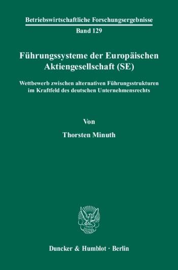 Cover: Führungssysteme der Europäischen Aktiengesellschaft (SE)