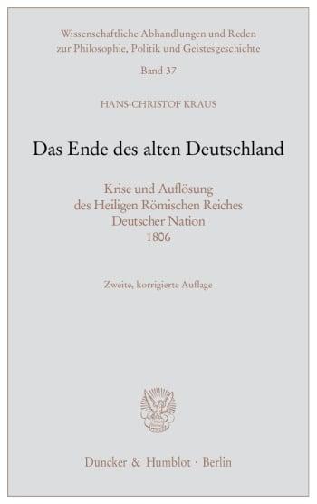 Cover: Das Ende des alten Deutschland