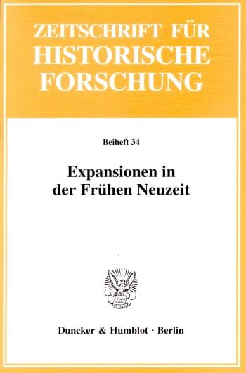 Cover: Expansionen in der Frühen Neuzeit