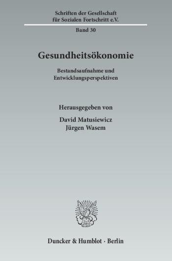 Cover: Gesundheitsökonomie