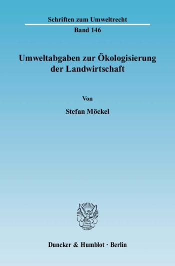 Cover: Umweltabgaben zur Ökologisierung der Landwirtschaft
