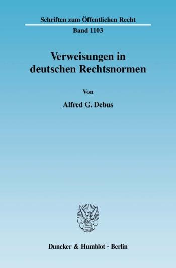 Cover: Verweisungen in deutschen Rechtsnormen