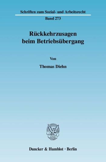 Cover: Rückkehrzusagen beim Betriebsübergang