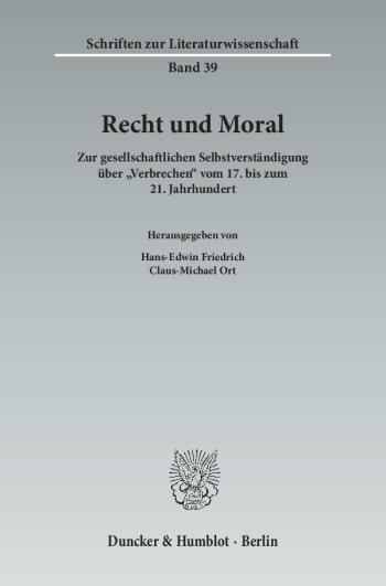 Cover: Schriften zur Literaturwissenschaft (SLI)