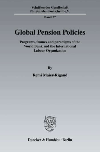 Cover: Global Pension Policies