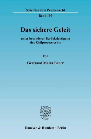 Cover: Das sichere Geleit