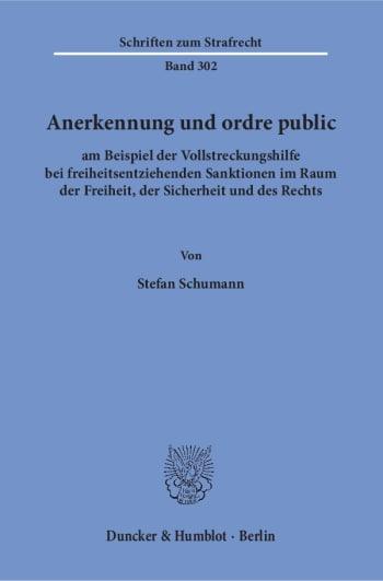 Cover: Anerkennung und ordre public