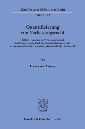 Cover: Quantifizierung von Verfassungsrecht