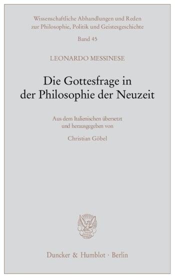 Cover: Die Gottesfrage in der Philosophie der Neuzeit