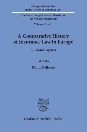 Cover: A Comparative History of Insurance Law in Europe