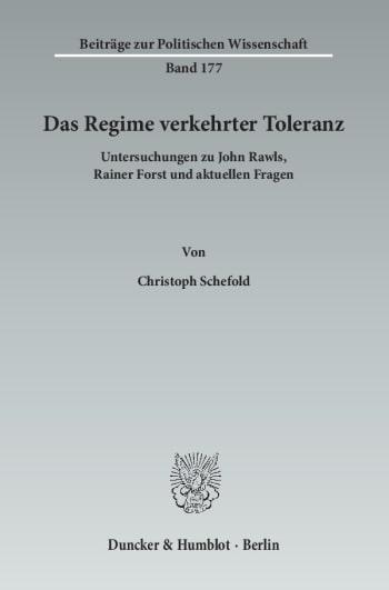 Cover: Das Regime verkehrter Toleranz