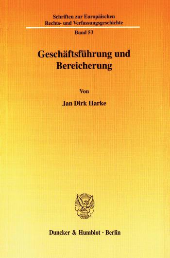 Cover: Geschäftsführung und Bereicherung