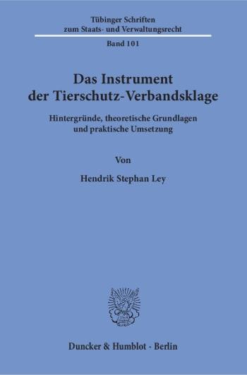 Cover: Das Instrument der Tierschutz-Verbandsklage