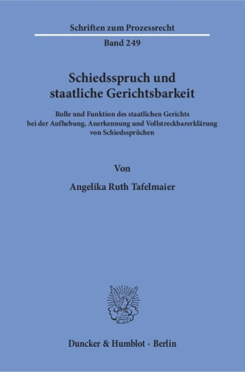 Cover: Schiedsspruch und staatliche Gerichtsbarkeit