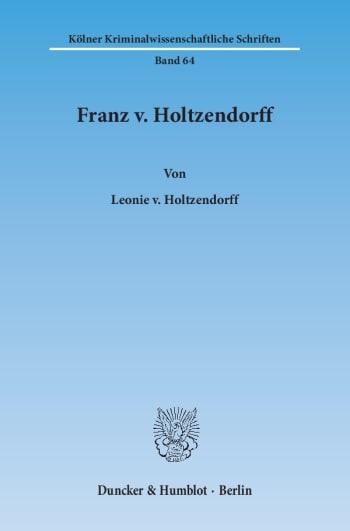 Cover: Franz v. Holtzendorff