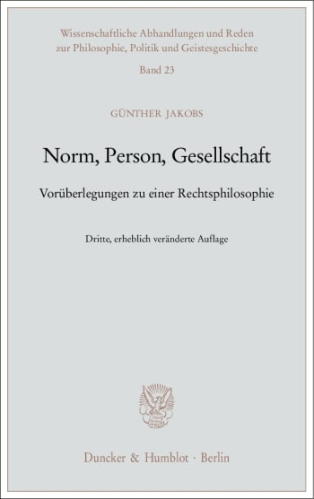 Cover: Norm, Person, Gesellschaft