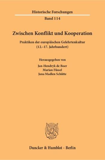 Cover: Zwischen Konflikt und Kooperation