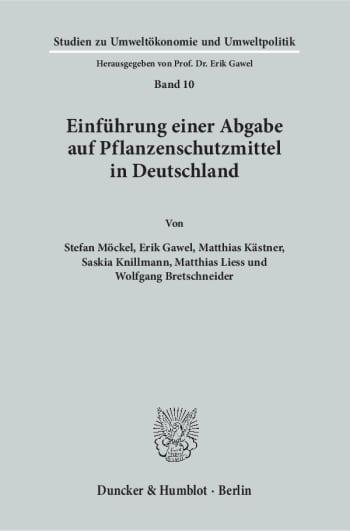 Cover: Einführung einer Abgabe auf Pflanzenschutzmittel in Deutschland