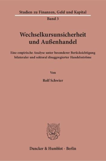 Cover: Wechselkursunsicherheit und Außenhandel