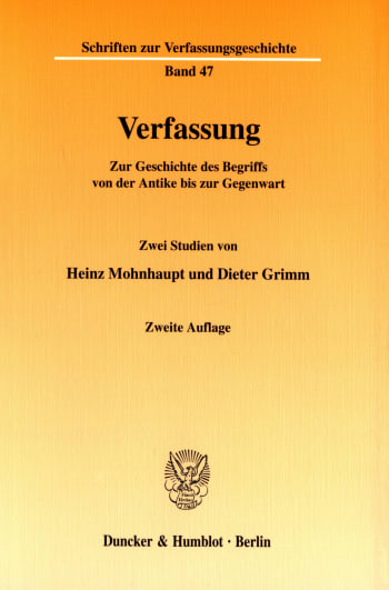 Cover: Verfassung