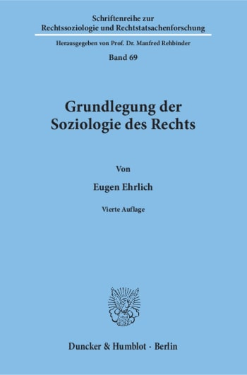 Cover: Grundlegung der Soziologie des Rechts