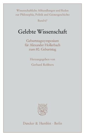 Cover: Gelebte Wissenschaft