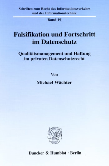 Cover: Falsifikation und Fortschritt im Datenschutz
