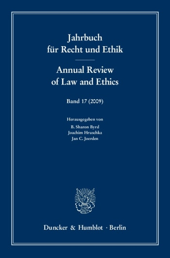 Cover: Jahrbuch für Recht und Ethik / Annual Review of Law and Ethics