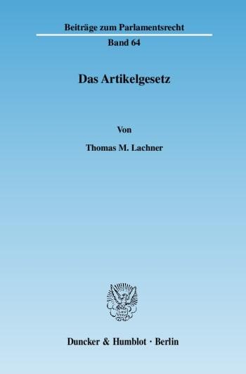 Cover: Das Artikelgesetz