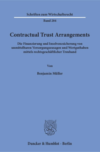 Cover: Contractual Trust Arrangements