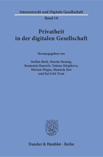 Cover: Privatheit in der digitalen Gesellschaft