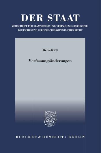 Cover: Verfassungsänderungen