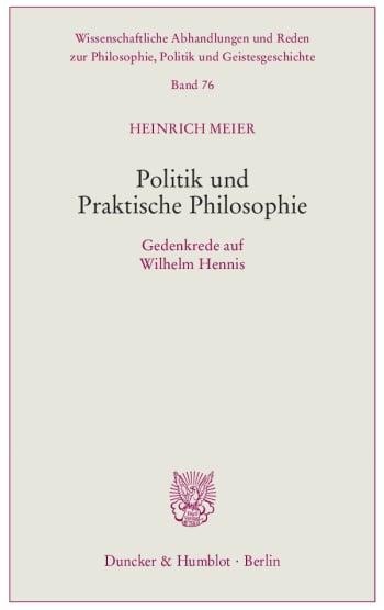 Cover: Politik und Praktische Philosophie