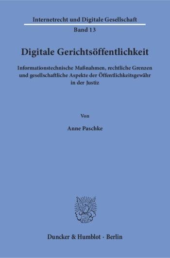 Cover: Digitale Gerichtsöffentlichkeit