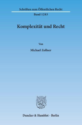 Cover: Komplexität und Recht