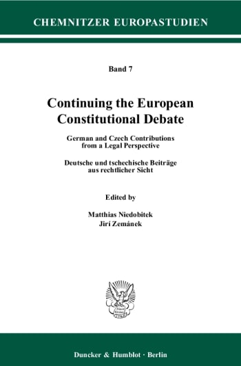 Cover: Continuing the European Constitutional Debate