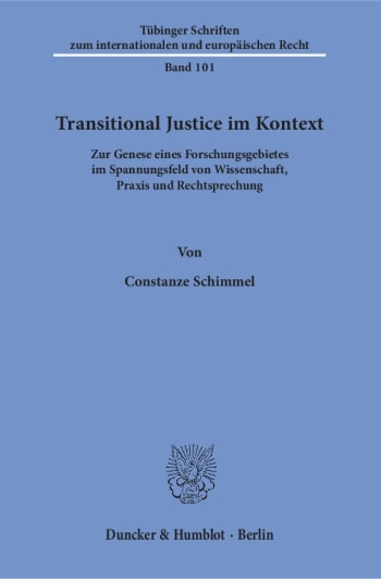 Cover: Transitional Justice im Kontext