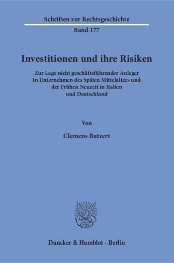 Cover: Investitionen und ihre Risiken